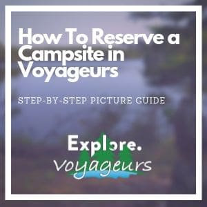 How to reserve a campsite in Voyageurs National Park